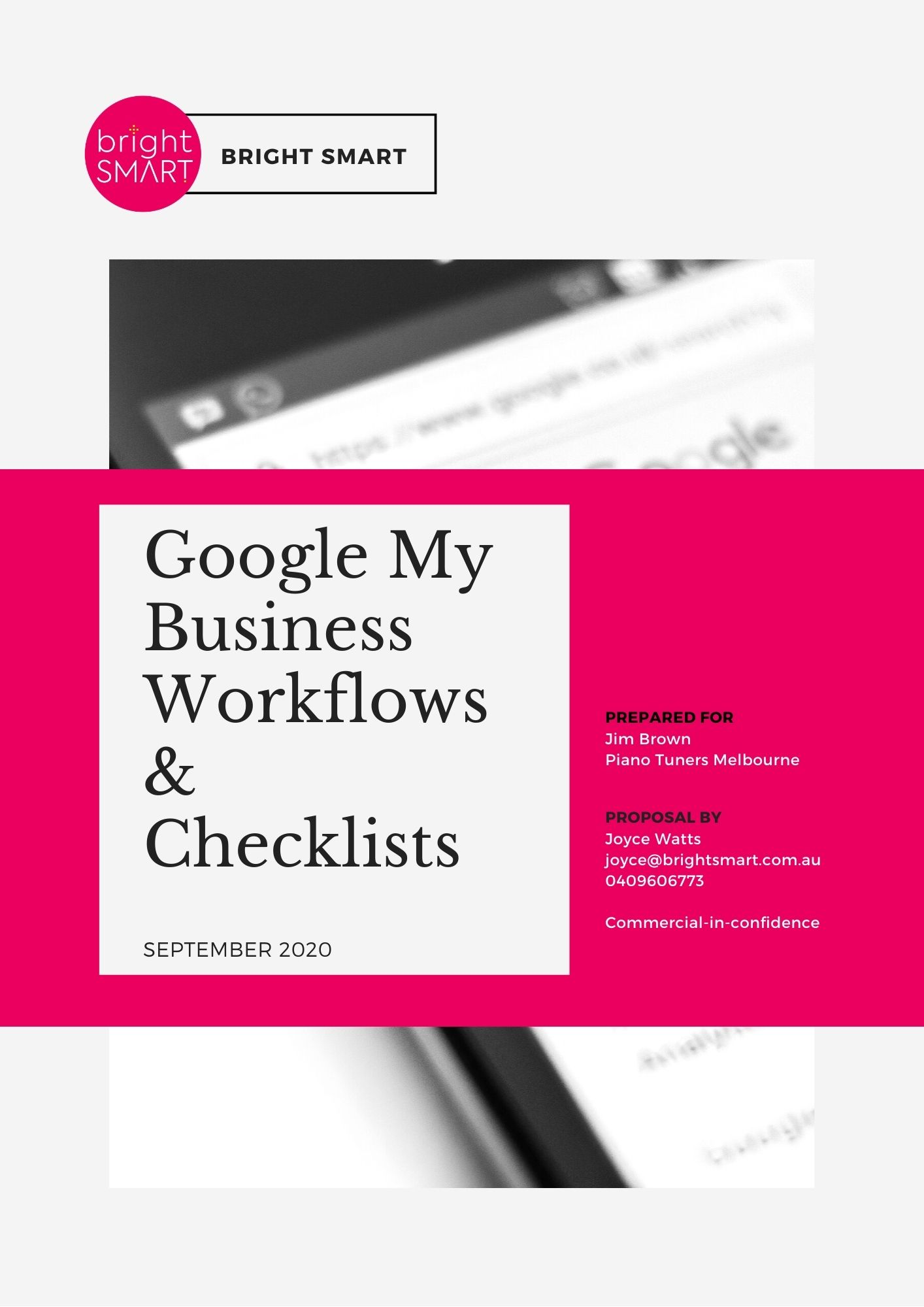 Google My Business Report Cover